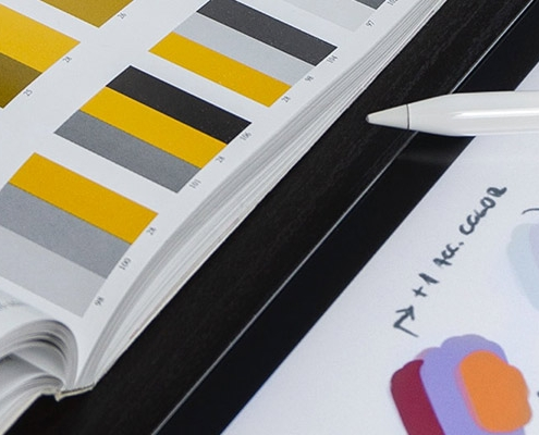 Colour Swatches on iPad and Book